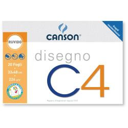 Canson ALBUM C4  4ANG RUVIDO 33X48CM 224G