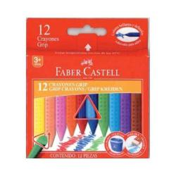 Faber Castell Cf12 Pastelli Cera In Plasticajumbo