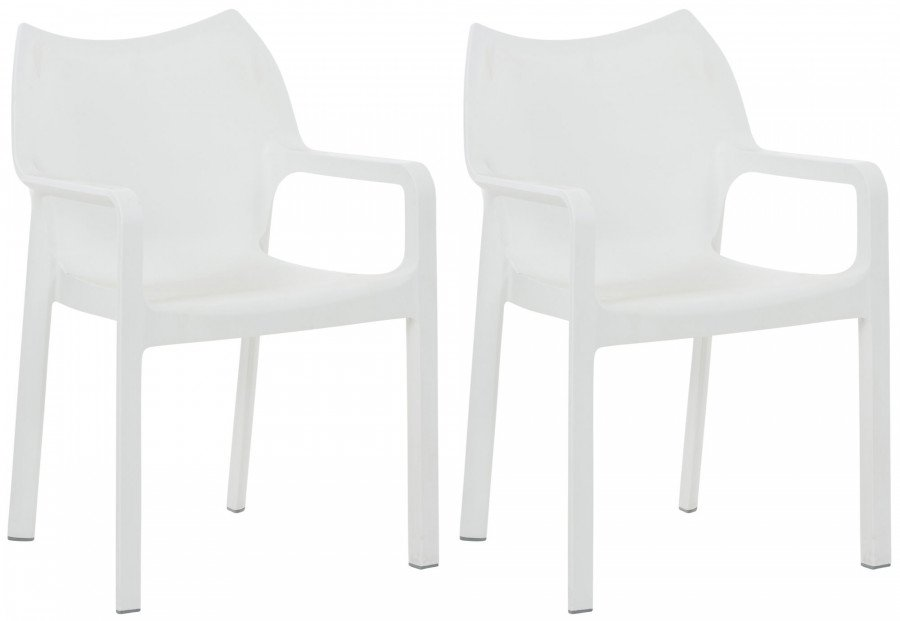 Set di sedie impilabili diva bianco epto