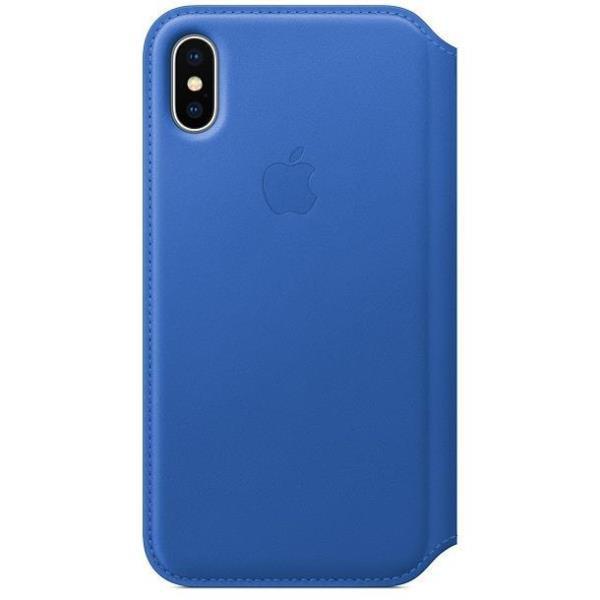 Custodia Apple Folio In Pelle Per iPhone X - Blu Elettrico - I.T.
