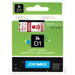 Dymo NASTRO D1  12MMX7M ROSSO/BIAN 19mm X 7mt