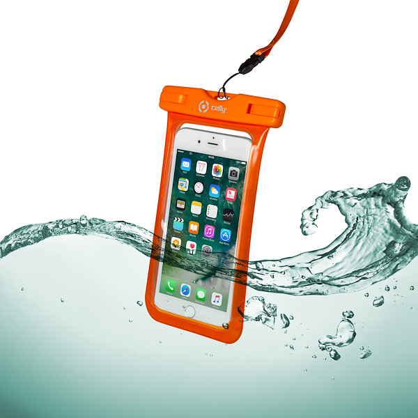Celly SPLASH BAG - UP TO 6.5'' SPLASHBAG 6.2 ORANGE