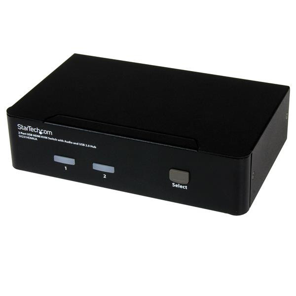 StarTech SWITCH KVM HDMI USB 2 PORTE CON AUDIO E HUB USB 2.0 IN