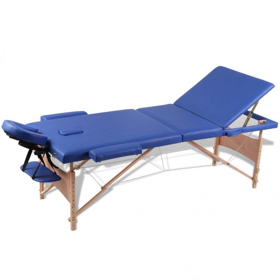 Lettino Da Massaggio Pieghevole Usato.Vidaxl Arredo E Complementi Lettino Pieghevole Da Massaggio Blu