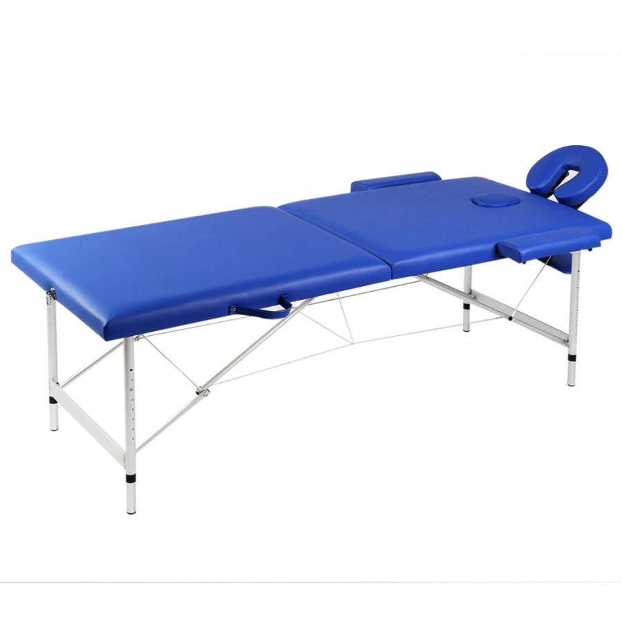 Lettino Da Massaggio Pieghevole.Vidaxl Arredo E Complementi Lettino Pieghevole Da Massaggio Blu 2 Zone Con Telaio Alluminio