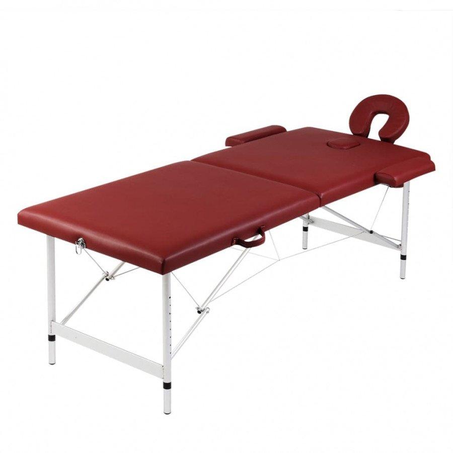 Lettino Pieghevole Da Massaggio.Vidaxl Arredo E Complementi Lettino Pieghevole Da Massaggio Rosso 2 Zone Telaio Alluminio