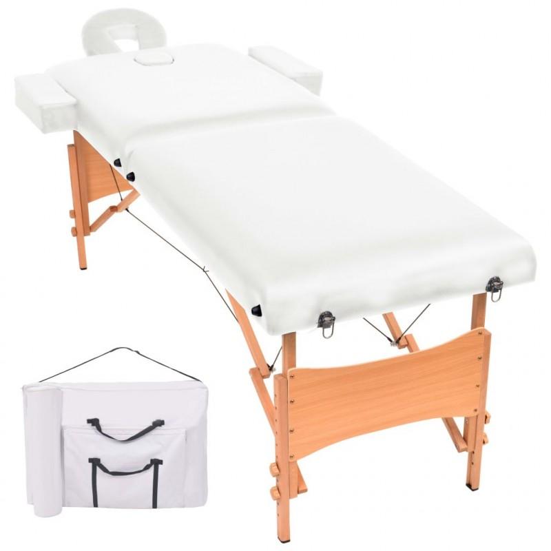 Lettino Massaggio Professionale Pieghevole.Vidaxl Arredo E Complementi Lettino Massaggio Pieghevole A 2