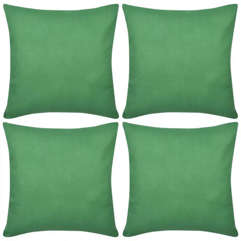 Cuscini Verdi.Vidaxl Tende E Cuscini Federe 4 Pz Per Cuscini In Cotone Verdi