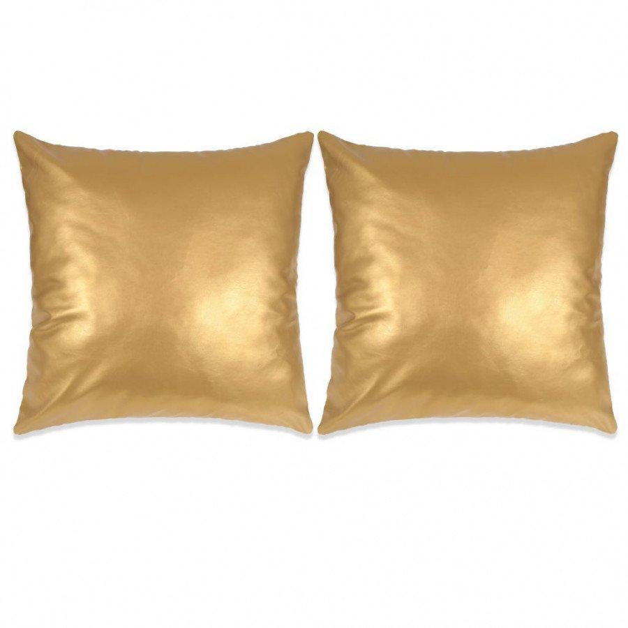 Cuscini Color Oro.Vidaxl Tende E Cuscini Set Di Cuscini 2 Pz In Pu 60x60 Cm Oro Epto