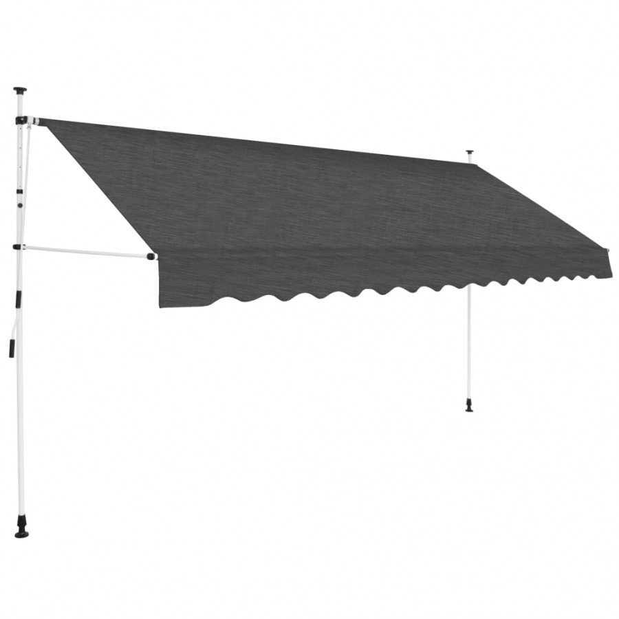 vidaXL Toldo retráctil de operación manual antracita 400 cm