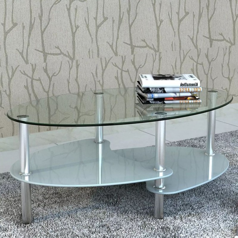 VidaXL Table basse avec design exclusif Blanc