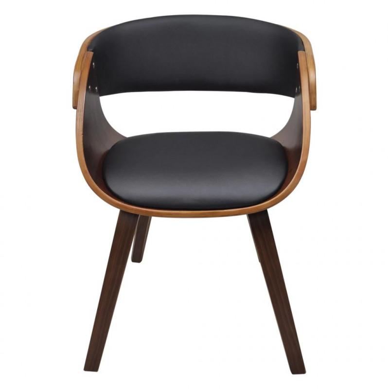 Chaise en cadre Fauteuils à VidaXL manger avec de bois Marron salle N0wO8nkXP