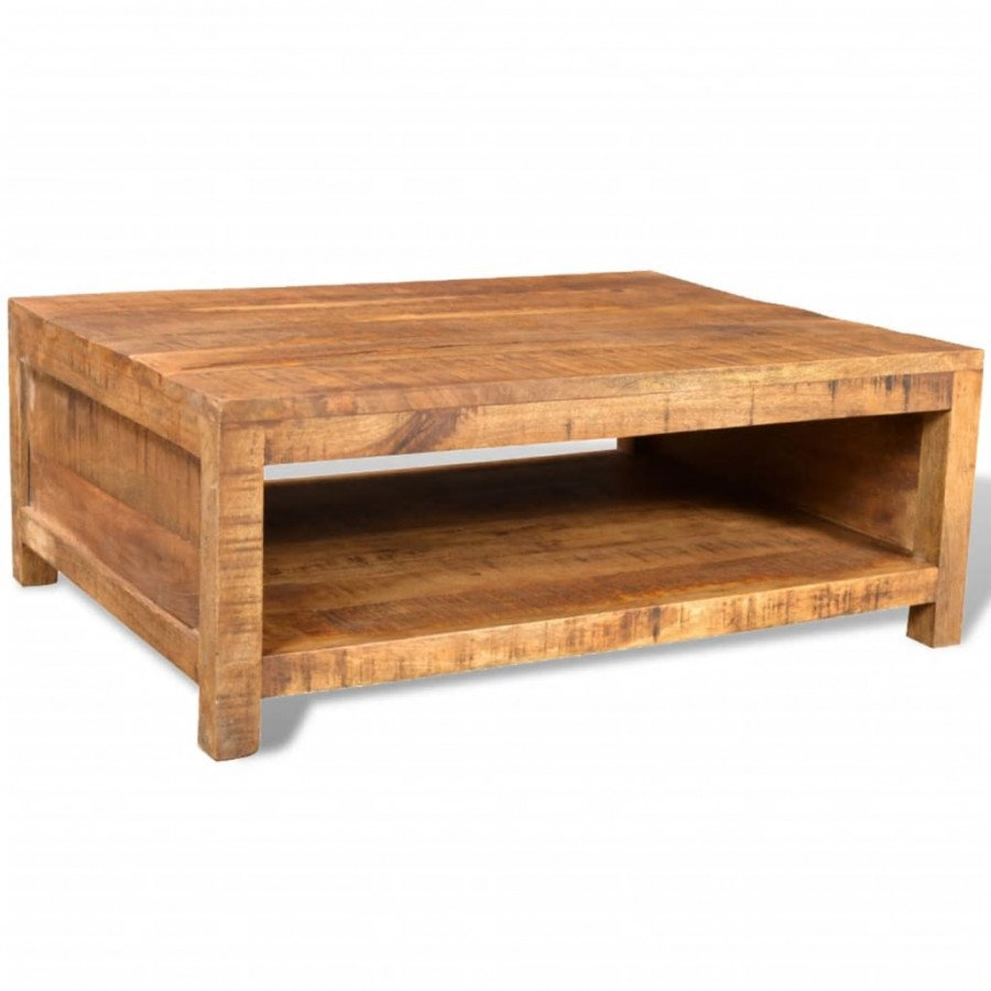 VidaXL Table basse Bois massif de manguier