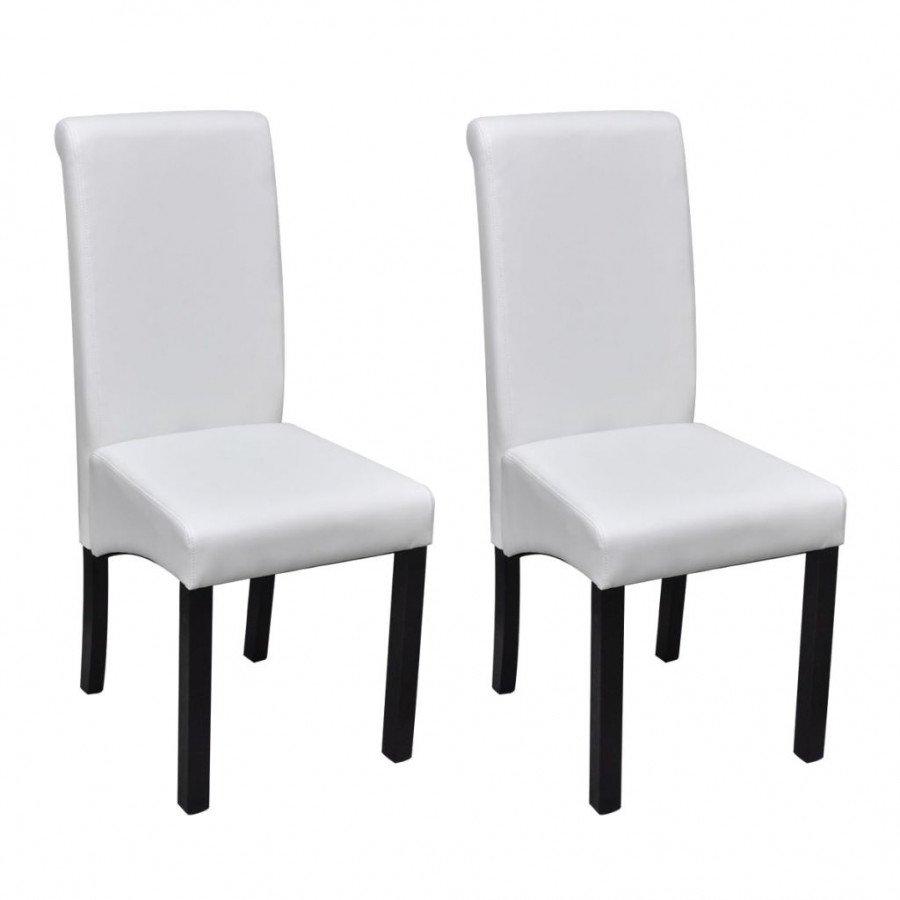 VidaXL 2 pz sedie da pranzo in pelle artificiale bianca - Epto