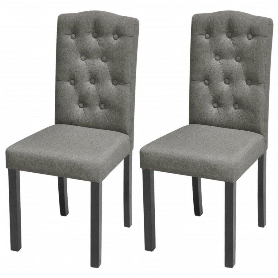 VidaXL - Arredamento Casa 2 pz sedie da pranzo in tessuto grigio ...