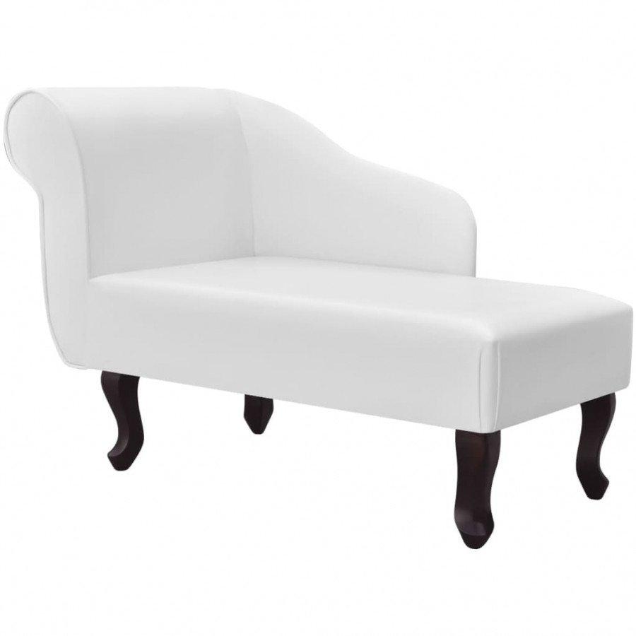 VidaXL Chaise Longue Cuir Synthtique Blanc