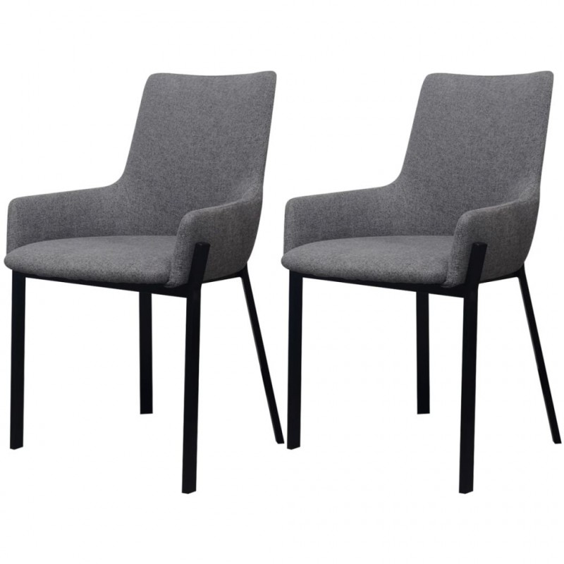 VidaXL - Arredamento Casa 2 pz sedie sala da pranzo in stoffa grigio ...