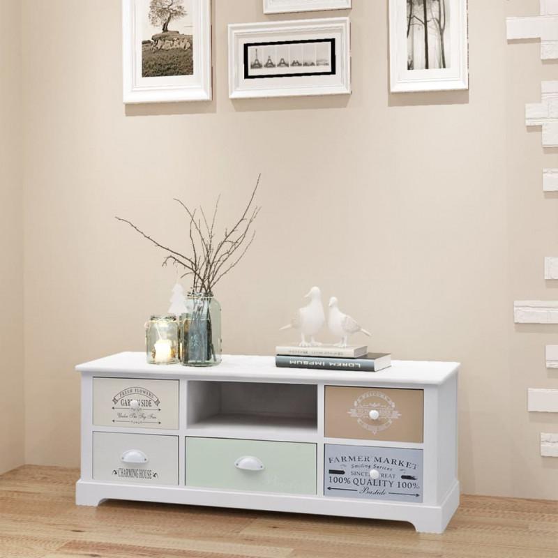 VidaXL Arredamento Casa Cucina Mobiletto Porta TV in Stile Francese in Legno