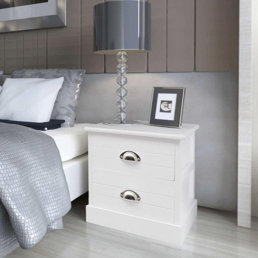 VidaXL Arredamento Casa Cucina Comodino In Stile Francese Bianco