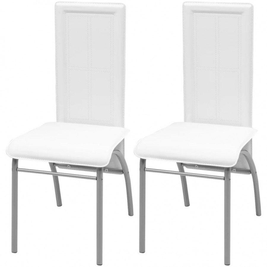 VidaXL - Arredamento Casa 2 pz sedie per sala da pranzo bianche - Epto