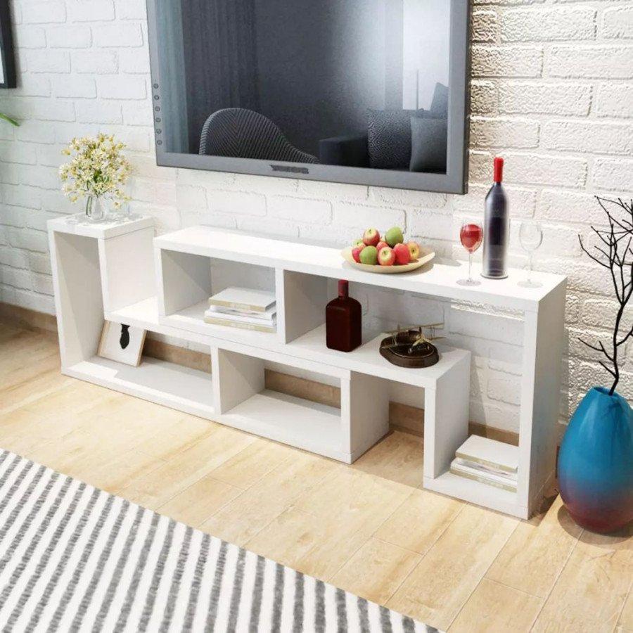 Mobile Porta Tv Contemporaneo.Vidaxl Arredamento Casa Cucina Mobile Porta Tv Doppio A L Bianco