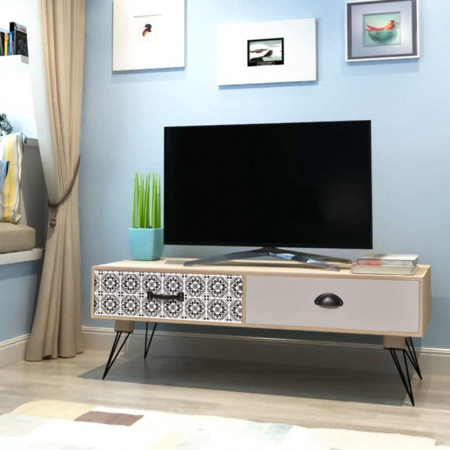 VidaXL Tavolino porta tv 100x40x35 cm marrone - Epto
