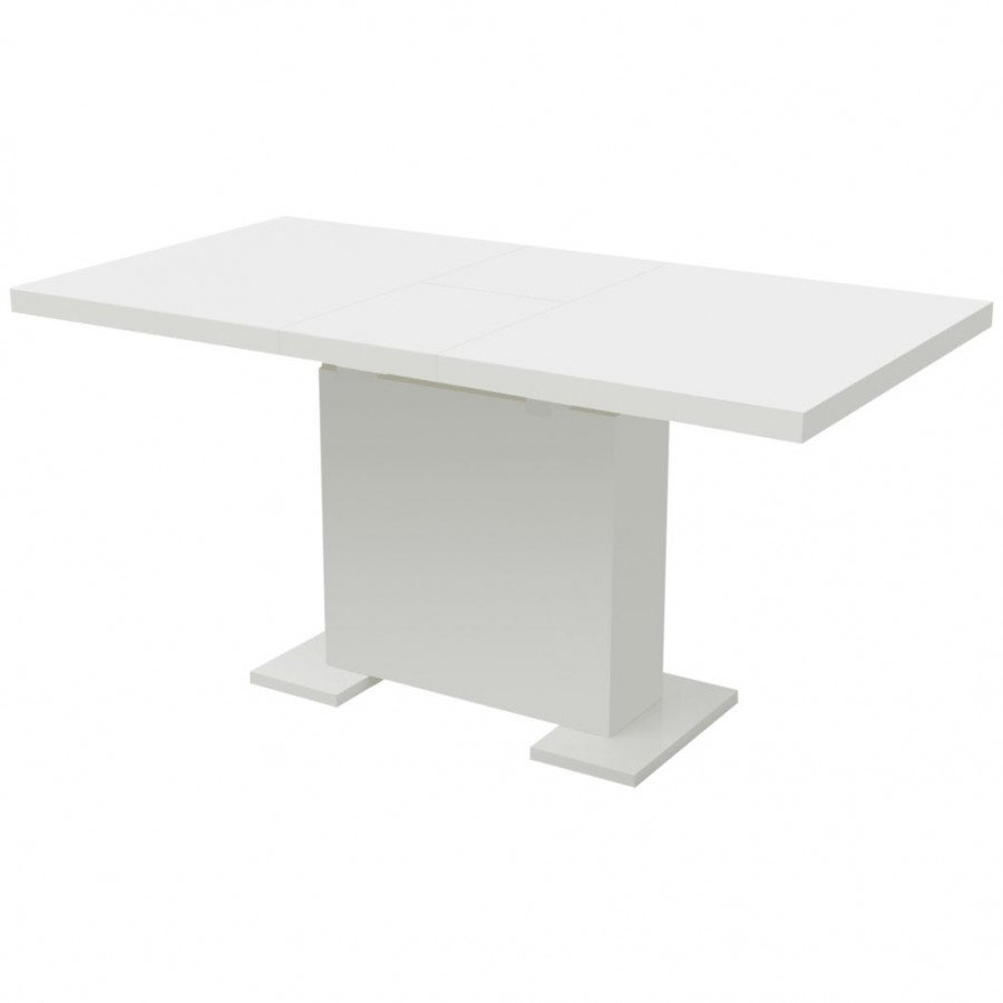 Vidaxl Mesas Mesa De Comedor Extensible Blanco Brillante