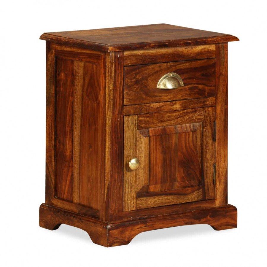 VidaXL Comodino 40x30x50 cm in legno massello di sheesham - Epto