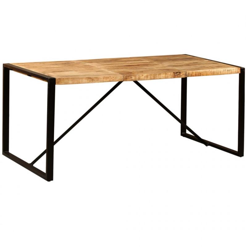 vidaXL Mesas Mesa de comedor de madera maciza de mango rugosa 180 cm