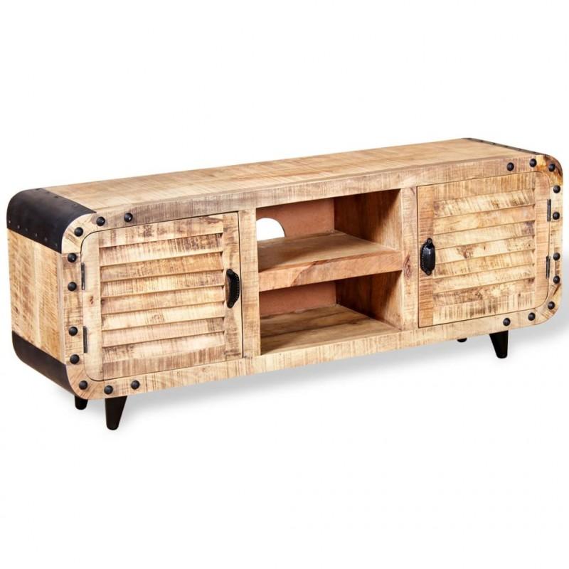 Vidaxl Mobile Porta Tv In Legno Grezzo Di Mango 120x30x50 Cm Arredamento Casa Cucina Epto