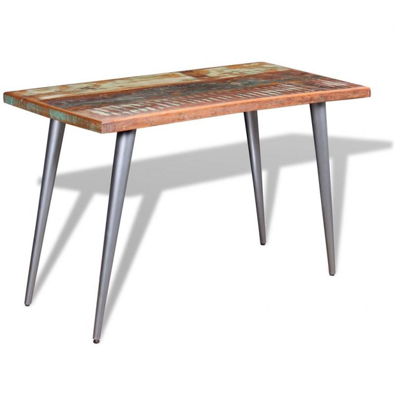 vidaXL VX244242 Mesa de comedor madera maciza reciclada 120x60x76 cm ...
