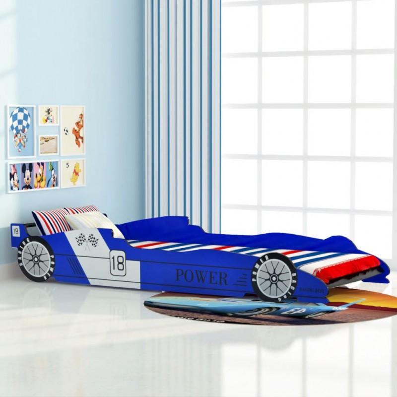 Letto Bambini.Vidaxl Cameretta Letto Bambini Auto Da Corsa 90x200 Cm Blu