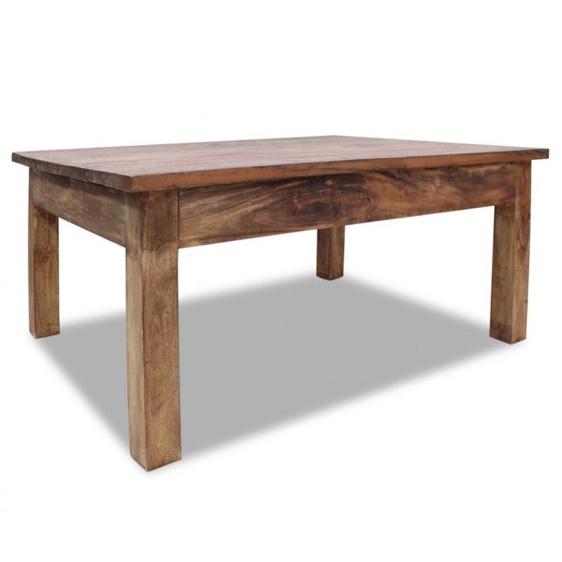 Tavolini Da Salotto Rustici.Vidaxl Arredamento Casa Cucina Tavolino Da Caffe In Legno Massello Di Recupero 98x73x45 Cm