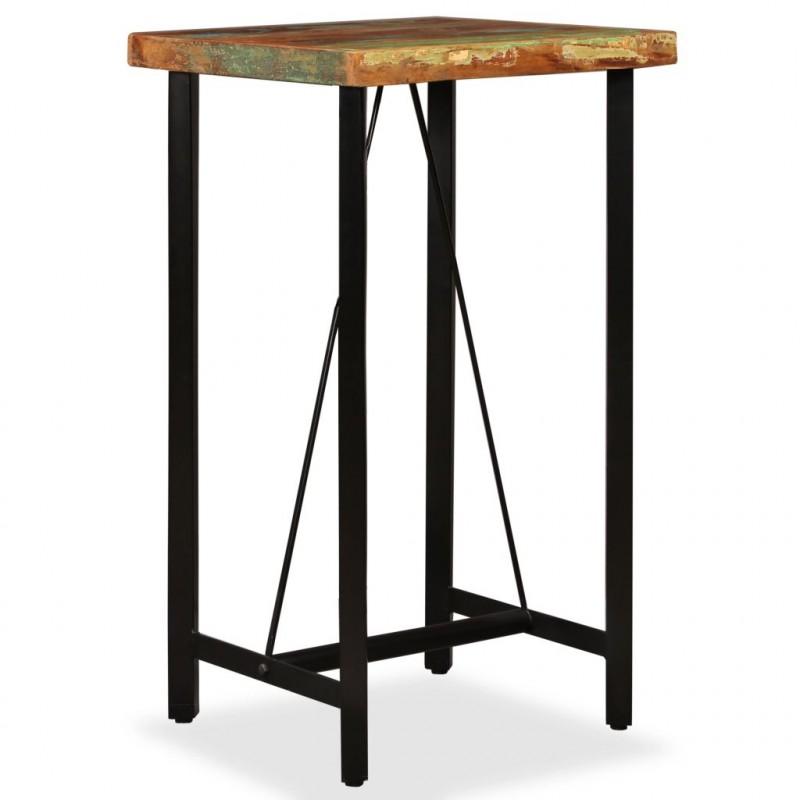 VidaXL Tavolino da bar in legno massello di recupero 60x60x107 cm - Epto