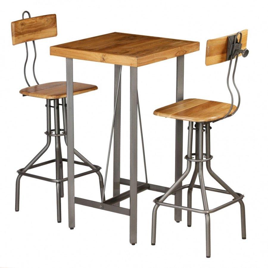 26e0b3bb977b Este juego de mesa y sillas de bar será un excelente añadido para su cocina  o comedor La mesa y las sillas de barra son de madera de teca reutilizada,  ...