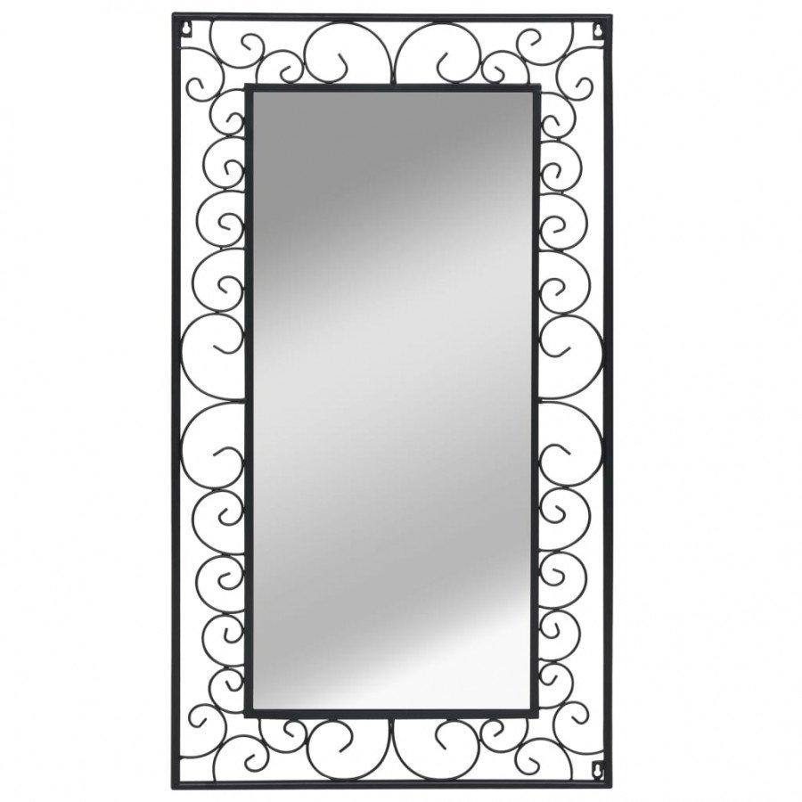 VidaXL Arredamento Casa Cucina Specchio da Parete Rettangolare 60x110 cm  Nero