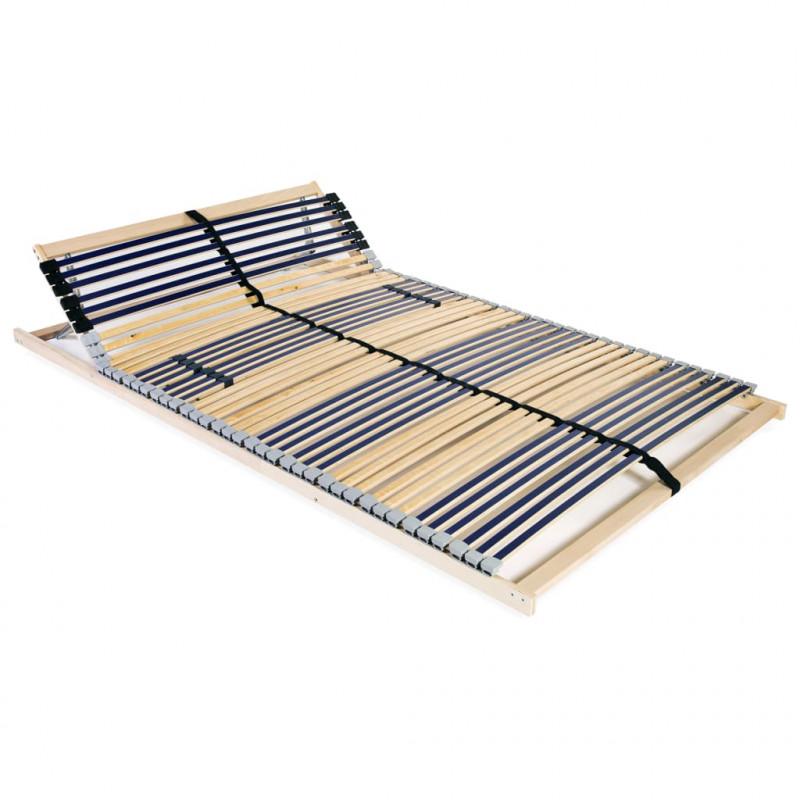 Vidaxl łóżka I Akcesoria Stelaż Do łóżka Z 42 Listwami Drewno Fsc 7 Stref 100x200 Cm