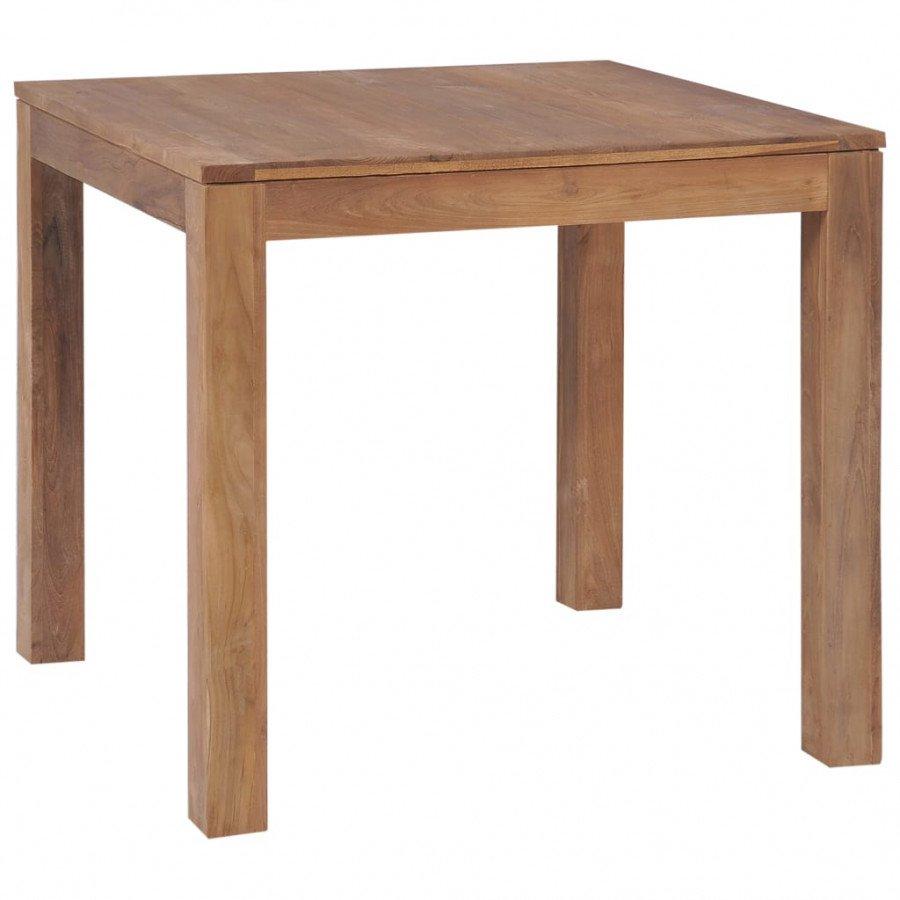 vidaXL VX246954 Mesa de comedor madera teca maciza acabado natural ...