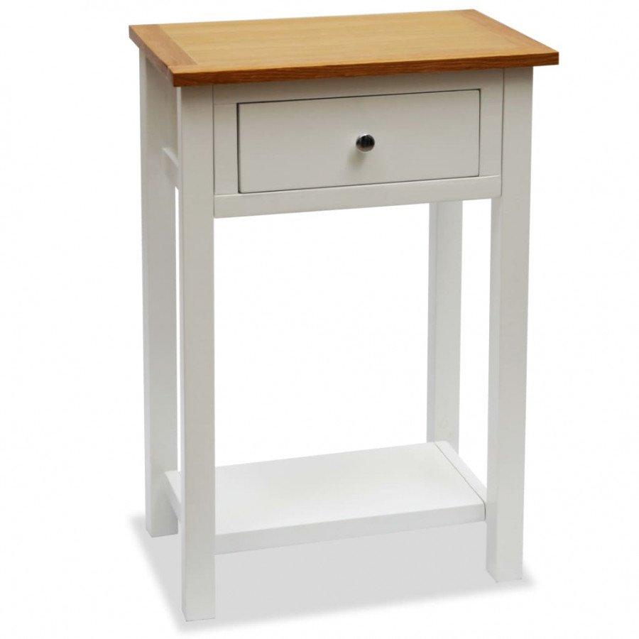 89cf36d82e6 Nuestra mesa auxiliar de madera en dos tonos añadirá un toque de elegancia  a la decoración de su hogar gracias a su diseño ...