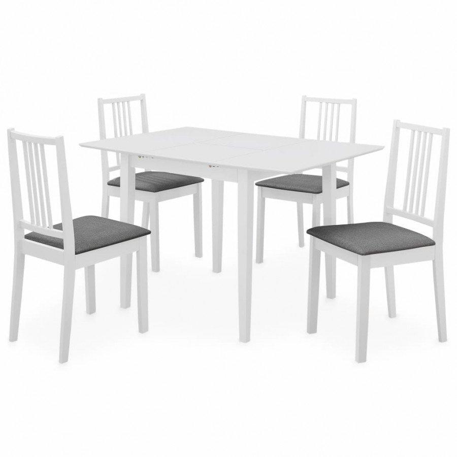 vidaXL Conjuntos de muebles Juego de muebles de comedor 5 piezas MDF blanco