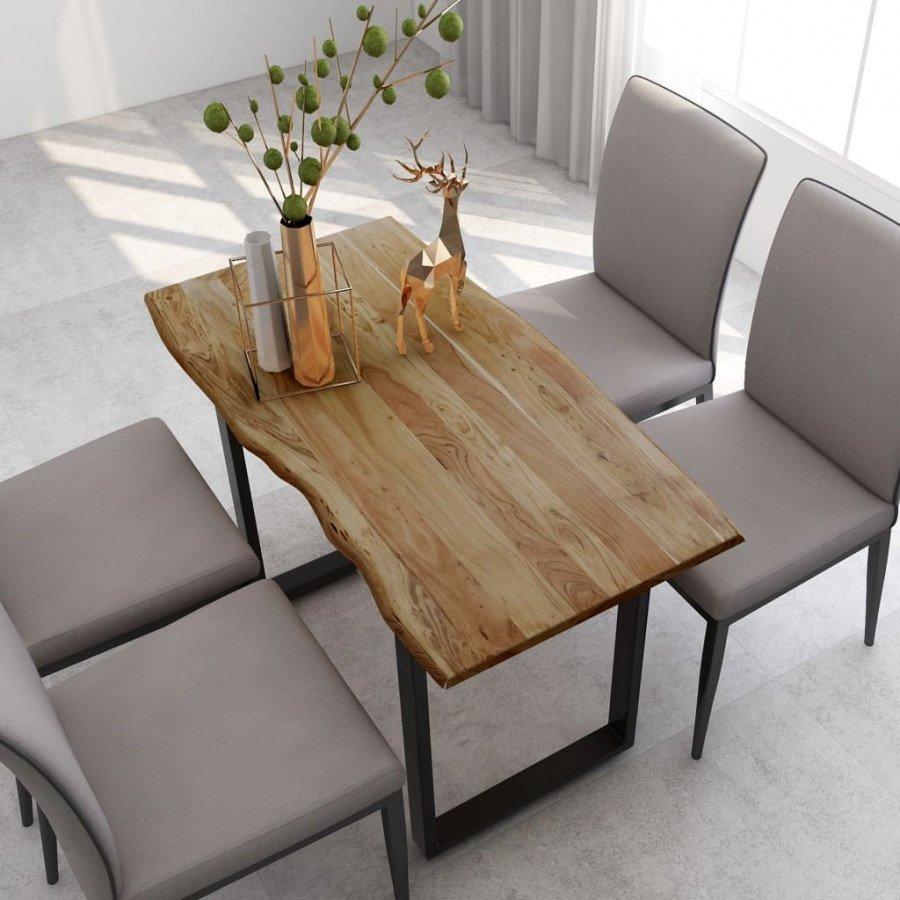 vidaXL Tavolo per Sala da Pranzo in Legno Massello di Acacia 180x90 cm