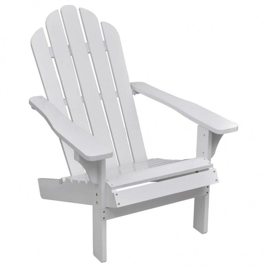 VidaXL Chaise De Salon Jardin En Bois Blanche Relaxation