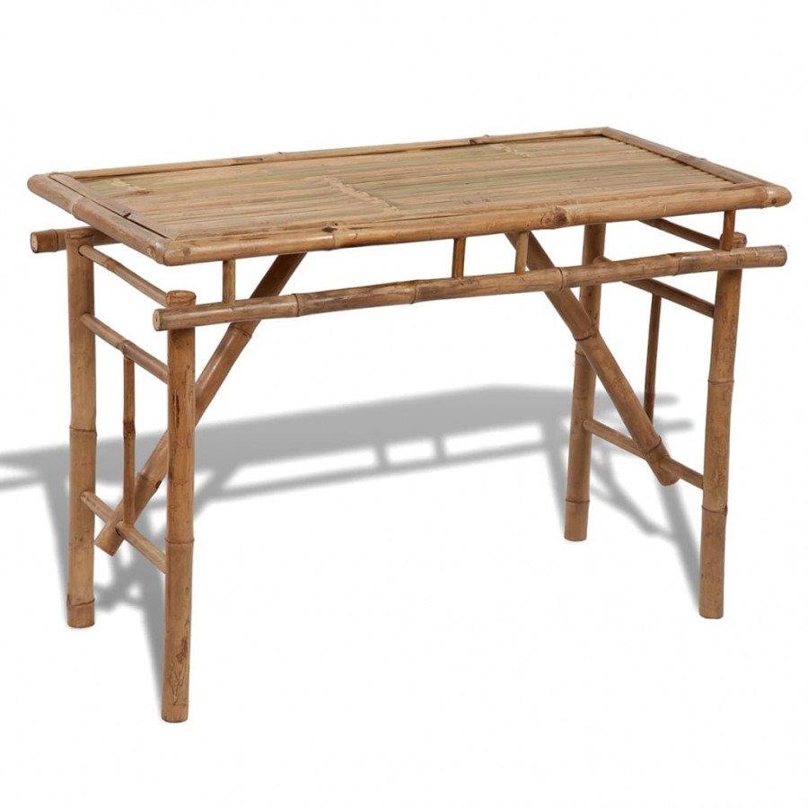 VidaXL Arredo Giardino Tavolo pieghevole in legno di bambù