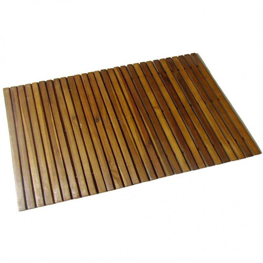 Vidaxl Akcesoria łazienkowe Mata Prysznicowa Z Drewna Akacjowego 80 X 50 Cm