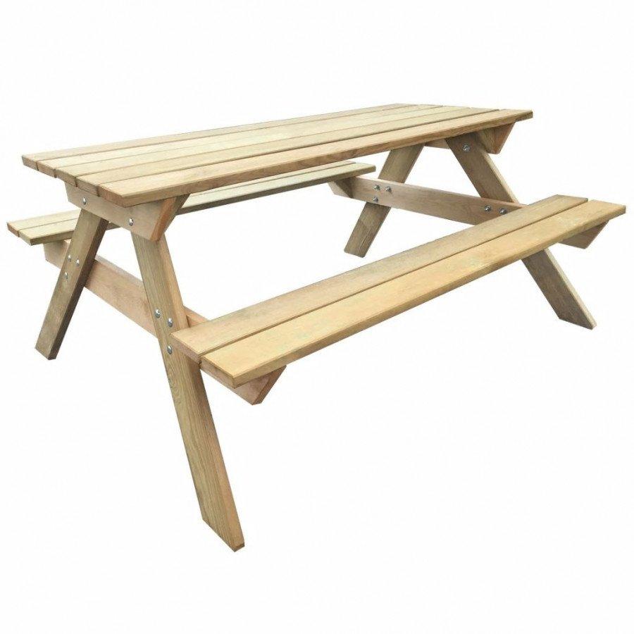 VidaXL Meubles de jardin Table de pique-nique 150 x 135 x 71,5 cm Bois FSC