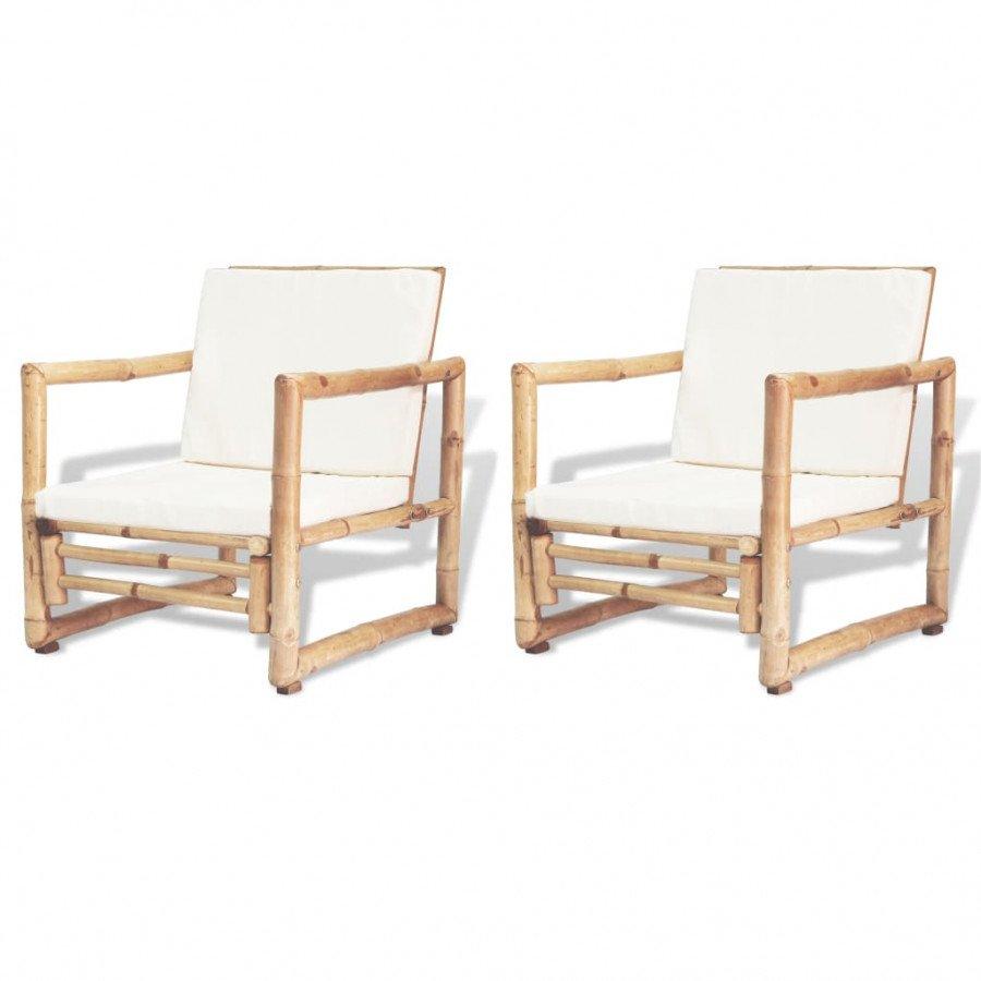 Set Sedie Da Giardino.Vidaxl Arredo Giardino Set Sedie Da Giardino 2 Pz In Bambu