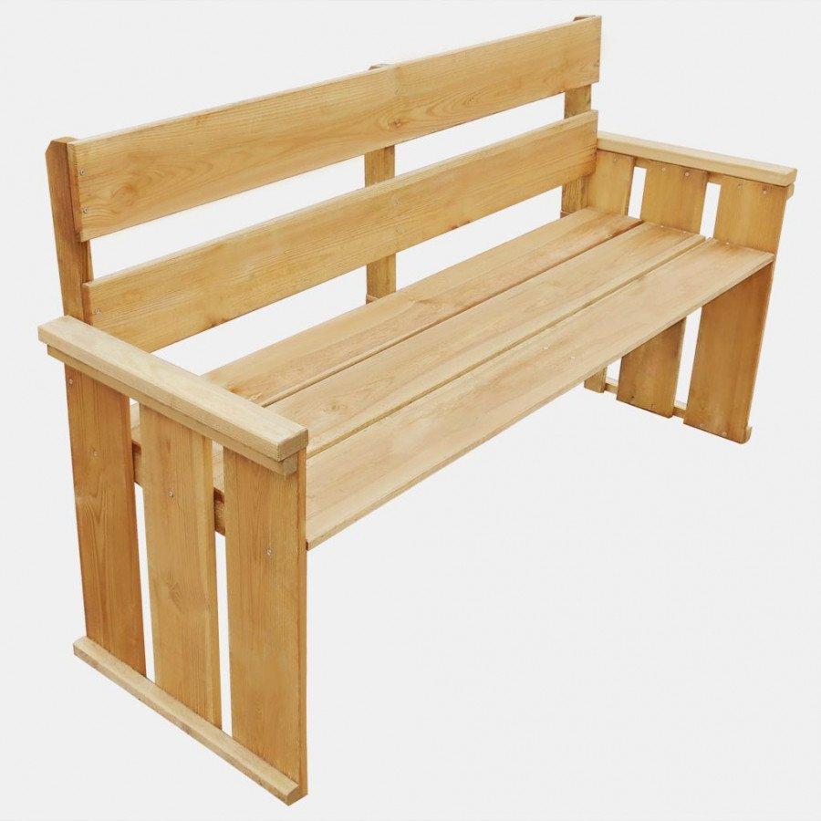 VidaXL VX43259 Banc de jardin en bois de pin imprégné 160 x 55 x 89 ...