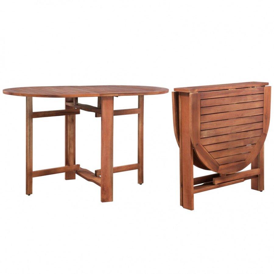 vidaXL VX44019 Mesa de comedor jardín oval madera acacia maciza ...