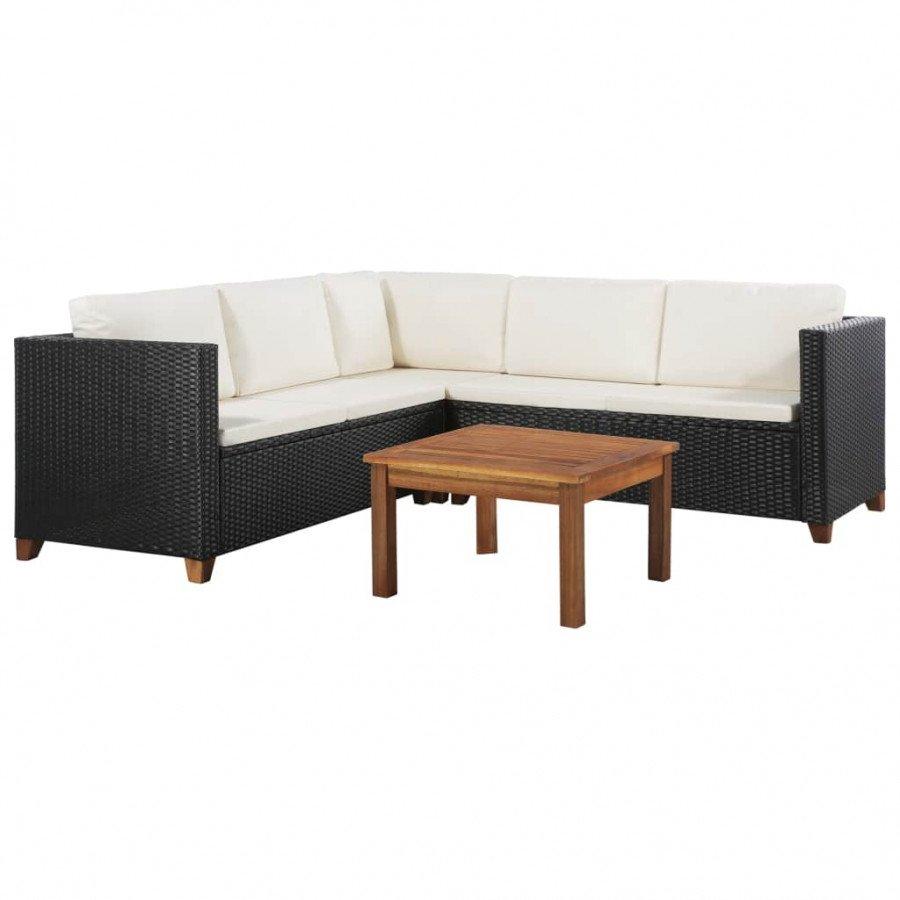Ratán Vidaxl Set Y Cojines De Muebles Pzas Jardín Vx44107 4 m08vnNw