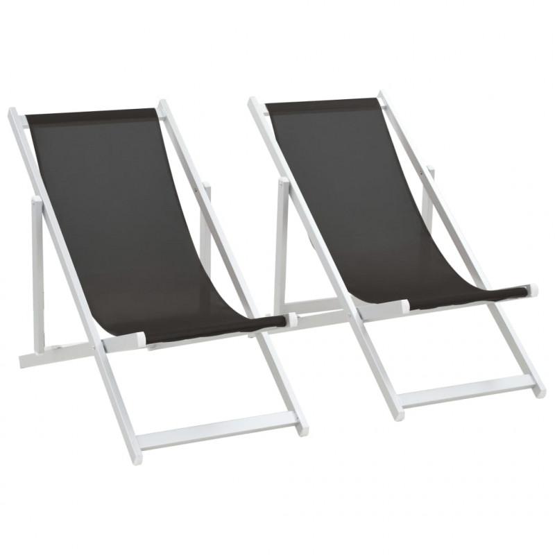 Sedie Pieghevoli Per Spiaggia.Vidaxl Arredo Giardino Sedie Da Spiaggia Pieghevoli 2 Pz